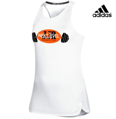 JJR Next Level Training and Fitness Adidas Women's Game Mode Training Tank-White