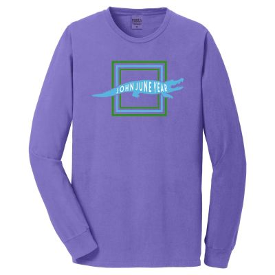 John June Year Crocodile Pigment Dyed Long Sleeve Tee-Purple