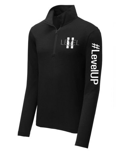 Levell II Sport Tek PosiCharge TriBlend Wicking 1/4 Zip Pullover-Black Triad Solid