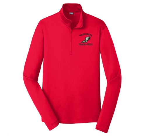 Maquoketa Track and Field Spring Sport Tek PosiCharge Competitor 1/4 Zip Pullover-True Red
