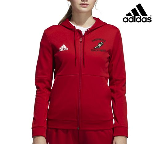 Maquoketa Track and Field Spring Adidas Team Issue AeroReady Women's Full Zip Jacket NEW STYLE-Red
