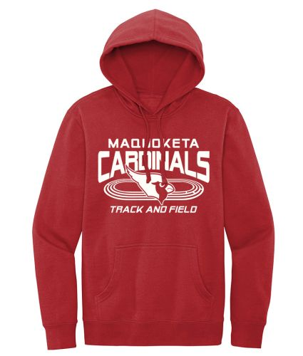 Maquoketa Track and Field Spring District VIT Fleece Hood-Classic Red
