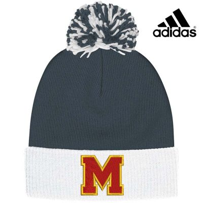 Marion Youth Baseball Fall/Winter Adidas Cuffed Pom Beanie-Onix
