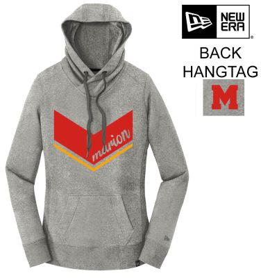 Marion Youth Baseball Fall/Winter New Era Ladies French Terry Pullover Hoodie-Light Graphite Twist