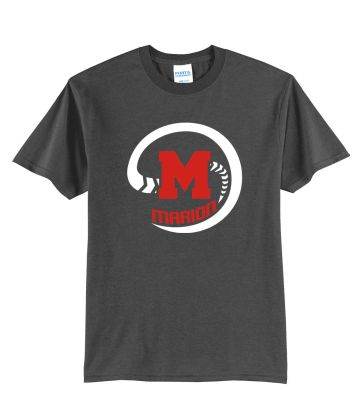 Marion Youth Baseball Fall/Winter Unisex Basic Core Blend Tee-Charcoal