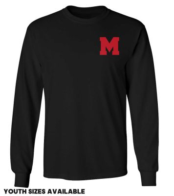 Marion Youth Baseball Fall/Winter Unisex Basic Long Sleeve Tee-Black