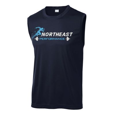 Northeast Performance Sport Tek Sleeveless PosiCharge Competitor Tee-Navy