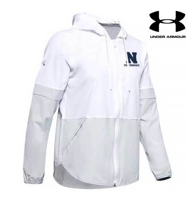 Northeast Performance Under Armour Women's Squad Woven Warm Up Jacket-White