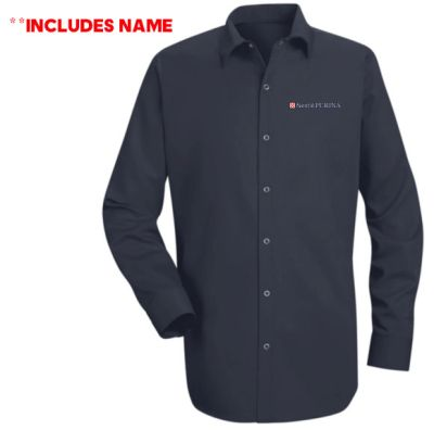 03. Nestle Purina Long sleeve Specialized Cotton Work Shirt WITH NAME-Navy
