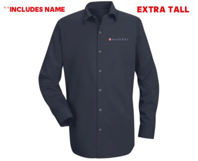 04. Nestle Purina EXTRA TALL Long Sleeve Specialized Cotton Work Shirt WITH NAME-Navy