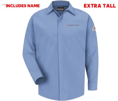 08. Nestle Purina EXTRA TALL Concealed-Gripper Pocketless Shirt-CAT 2-WITH NAME-Light Blue