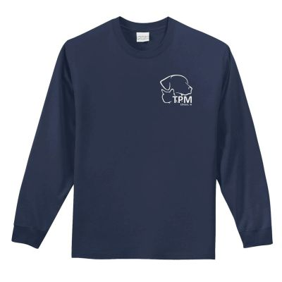 13. Nestle Purina TPM 6.1oz 100% Cotton Long Sleeve T-Navy