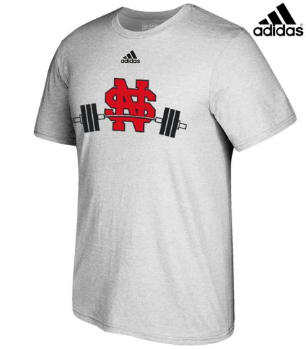 North Scott Strength Adidas Unisex Go-To Soft Blend Short Sleeve Tee-Grey