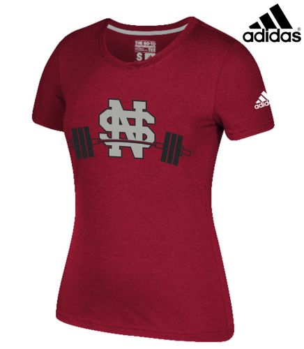 North Scott Strength Adidas Women Go-To Soft Blend Short Sleeve Tee-Red