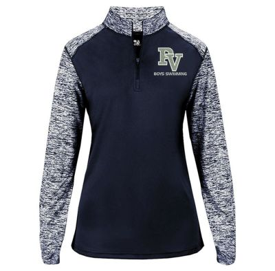 Pleasant Valley Boys Swimming Fall Ladies Sport Colorblock Blend Performance 1/4 Zip-
