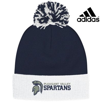 Pleasant View Elementary Holiday Adidas Cuffed Pom Beanie-Navy