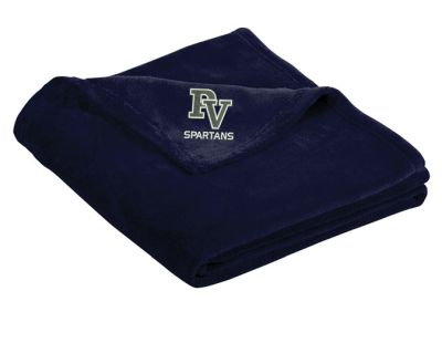 Pleasant View Elementary Holiday Port Authority Ultra Plush Blanket-Deep Navy