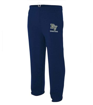Pleasant View Elementary Holiday Open Bottom Pocketed Fleece Pant-Navy