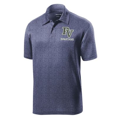 Pleasant View Elementary Holiday Sport Tek Heather Contender Polo-True Navy Heather