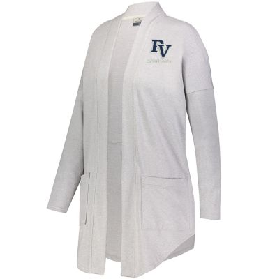 Pleasant View Elementary Holiday Ladies Sophomore Cardigan-Athletic Heather