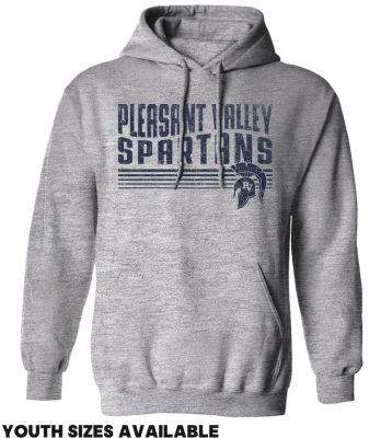 Pleasant View Elementary Holiday Unisex Basic Hooded Sweatshirt-Grey