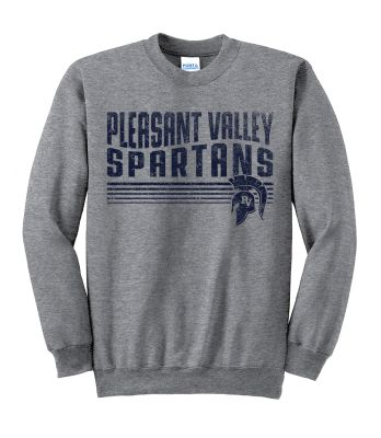 Pleasant View Elementary Holiday Unisex Basic Crewneck Sweatshirt-Athletic Heather
