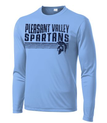 Pleasant View Elementary Holiday Sport Tek Long Sleeve PosiCharge Competitor Tee-Carolina Blue