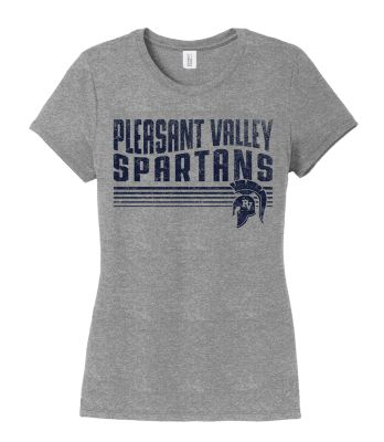 Pleasant View Elementary Holiday Women's Triblend Short Sleeve Tee-Grey Frost