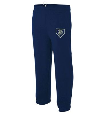 Pleasant Valley Softball Holiday Open Bottom Pocketed Fleece Pant-Navy
