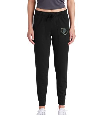 Pleasant Valley Softball Holiday Sport Tek Ladies PosiCharge Tri Blend Wicking Fleece Jogger-Black
