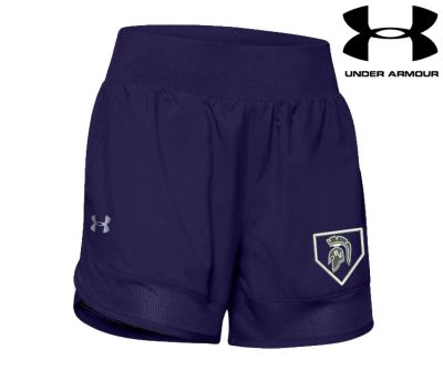 Pleasant Valley Softball Holiday Women's Under Armour Locker Woven Shorts-Navy