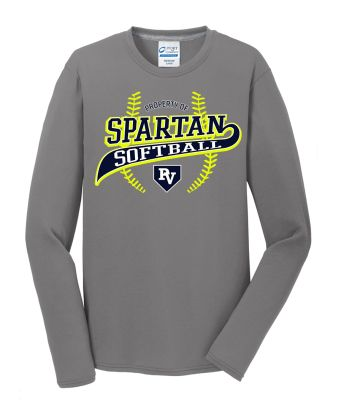 Pleasant Valley Softball Holiday Performance Blend Long Sleeve-Grey