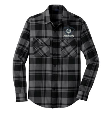 Pleasant Valley Trap Team Holiday Port Authority Plaid Flannel Shirt-Grey/Black