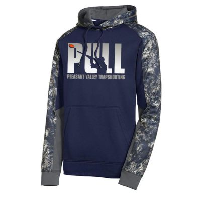 Pleasant Valley Trap Team Holiday Sport Tek Sport Wick Mineral Freeze Fleece Colorblock Hooded Pullover-True Navy/Navy