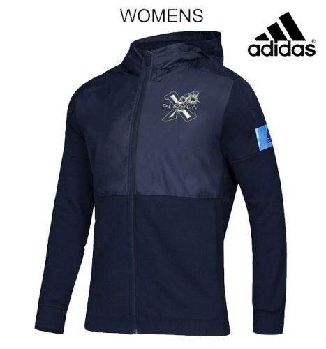 PV X-Plosion Fall Adidas Custom Color Women's Game Mode Full Zip Jacket-Navy/Light Blue