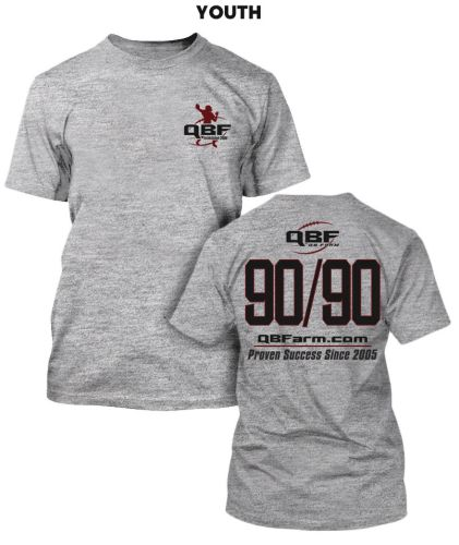 06. Quarterback Farm Unisex Basic YOUTH Short Sleeve Tee-Sport Grey
