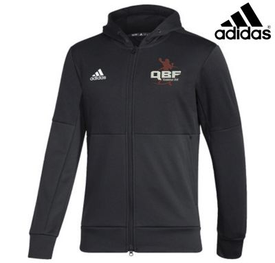 Quarterback Farm Holiday Adidas Team Issue Full Zip Hooded Performance Jacket NEW STYLE-Black