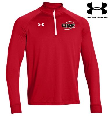 Under Armour Team Rival Tech 1/4 zip Red/wt
