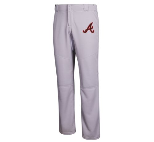 "04. adidas Diamond King Elite Open Hem Pant with embroidered ""A"" on left leg of pant-Grey"
