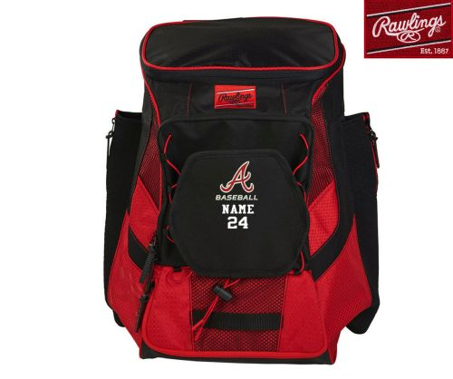 24. QC Area Knights Rawlings Players Backpack with Name/Number Option-Scarlet