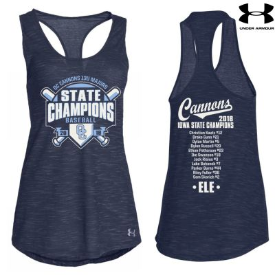 07. QC Cannons 13U Majors 2018 State Champions Under Armour Women's Triblend Stadium Tank-Navy