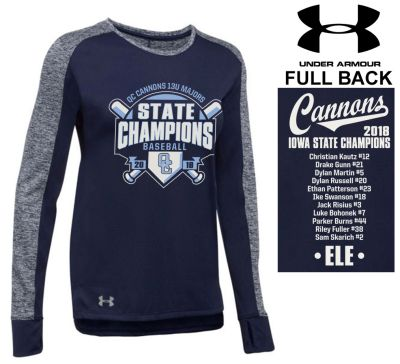 08. QC Cannons 13U Majors 2018 State Champions Under Armour Women's Favorite Longsleeve-Navy