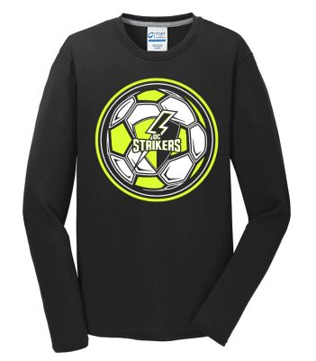 Quad City Strikers Soccer Unisex Performance Blend Long Sleeve Tee-Black