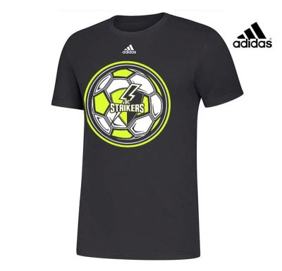 Quad City Strikers Soccer Adidas Unisex Amplifier Cotton Short Sleeve Tee-Black