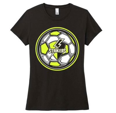 Quad City Strikers Soccer District Women's Perfect Triblend Short Sleeve Tee-Black