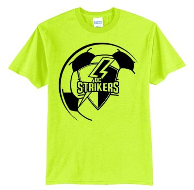 Quad City Strikers Soccer Unisex Basic Core Blend Tee-Safety Green
