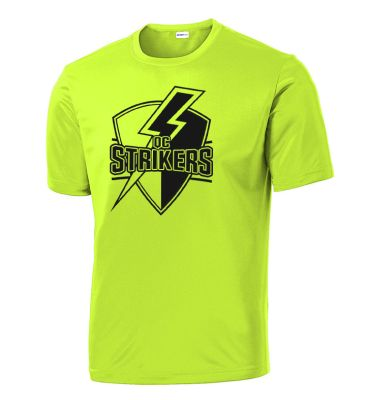Quad City Strikers Soccer Sport Tek PosiCharge Competitor Tee-Neon Yellow