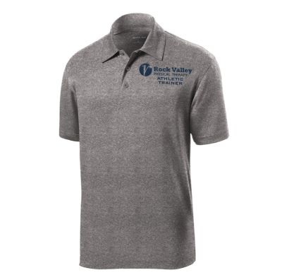 10. Rock Valley Athletic Trainer Heather Contender Performance Polo-Vintage Heather