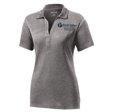 11. Rock Valley Athletic Trainer Ladies Heather Contender Performance Polo-Vintage Heather