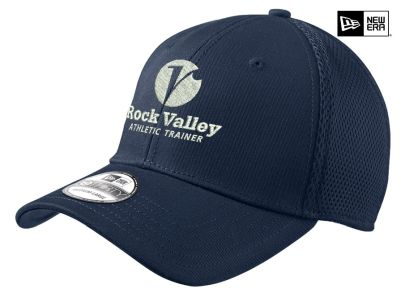 17. Rock Valley Athletic Trainer New Era Stretch Mesh Cap-Deep Navy